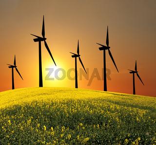 Wind turbines (alternative energy source