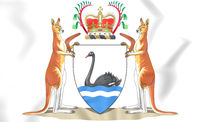 Western Australia coat of arms. 3D Illustration.