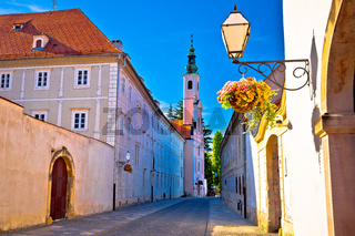 Colorful street of baroque town Varazdin