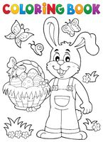 Coloring book Easter rabbit theme 7