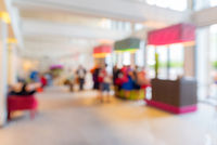 hotel lobby blurred background