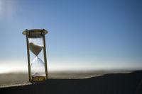 Hourglass on a Sand Dune
