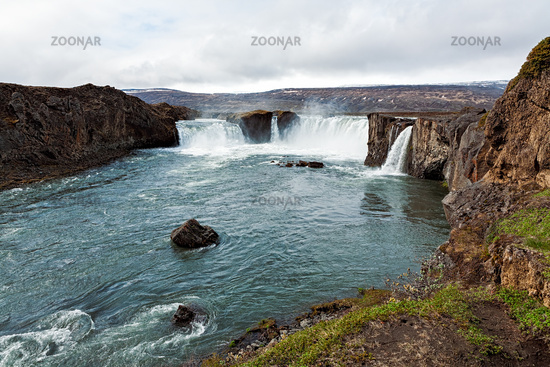 View of Godafoss waterfall, Iceland