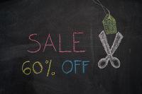 Sale 60% off on chalkboard