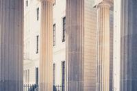 building facade historic columns