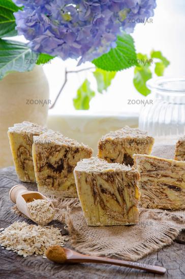 homemade oats soap