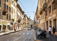 Street of Milan, Italy
