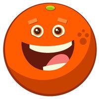 cartoon orange fruit character