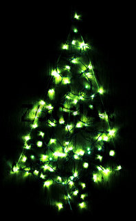 Green Bright Glowing Christmas Tree