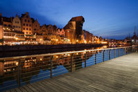 City of Gdansk at Night in Poland