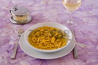 Passatelli in broth original Italian pasta