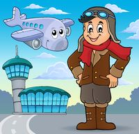Aviation theme image 4 - picture illustration.