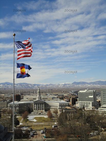 flags at Denver, Colorado, USA