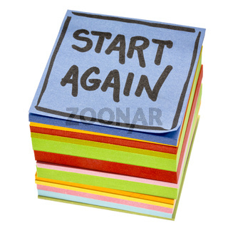 start again motivational reminder