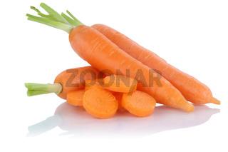 Karotten Möhren Karotte Möhre geschnitten frisch Gemüse Freisteller freigestellt isoliert