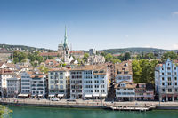 The city Zurich in Switzerland