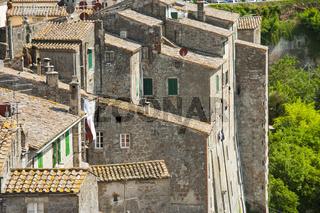 Sorano in der Provinz Grosseto in der Toskana, Italien