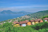Village of Stresa at Lake Maggiore,Piedmont,Italy