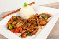 asian beef with onions