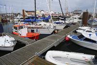 Sportboote  im Hafen von List, Sylt, nordfriesische Inseln, Nord