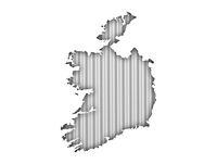 Karte von Irland auf Wellblech - Map of Ireland on corrugated iron