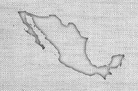 Karte von Mexiko auf altem Leinen - Map of Mexico on old linen