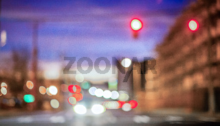 abstract blur of a modern city in the morning