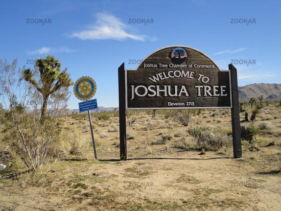 information sign at Joshua Tree National Park