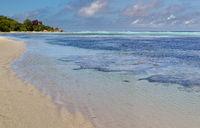 Beach on La Digue, Seychelles