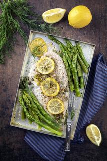 Saithe Filet with Green Asparagus
