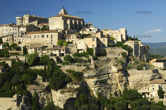 Small town Gordes on the Monts de Vaucluse