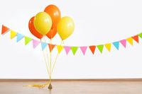 colorful air balloons and flag garland