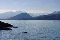 Lago Maggiore und Alpen in Norditalien - Lago Maggiore and Alps in northern Italy