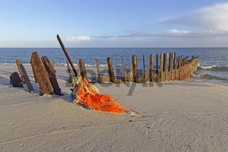 Buhne am Weststrand, Insel Sylt, Nordsee, Schleswig-Holstein, Deutschland