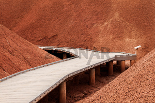 Walkway in the Painted Hills, part of the John Day Fossil Beds, Oregon