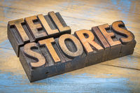 tell stories words in wood type