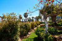 Picturesque Marina d'Or garden in the Oropesa del Mar resort town. Spain