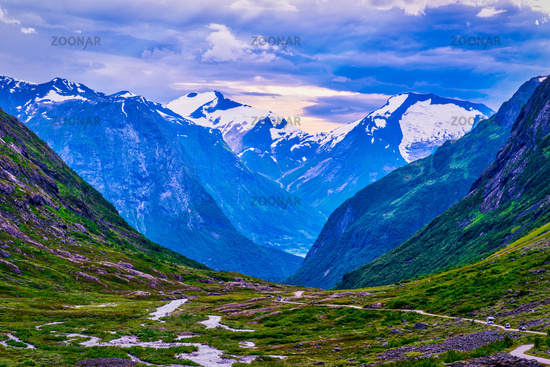 Mountain world in Norway