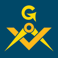 Masonic Square and Compasses (Sacral Emblem of Secret fraternity)