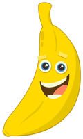 cartoon banana fruit character