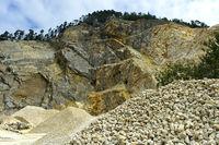 Limestone quarry, Gänsbrunnen, Switzerland
