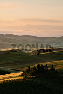 Sunrise in Val d'Orcia, Tuscany
