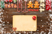 Christmas homemade decoration flat lay
