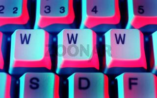 Computertaste www / computer key www