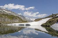 Mountain lake on the Pfitscher pass
