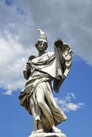 angel figure, Ponte Sant Angelo, bridge, Rome, Italy, Europe