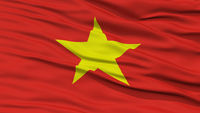 Closeup Vietnam Flag