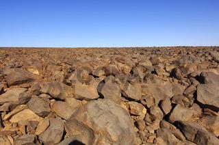 Hammada Wüstenlandschaft, Fezzan, Libyen