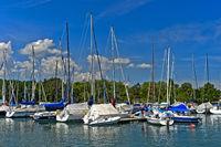 Yachthafen Port des Aberiaux am Genfersee