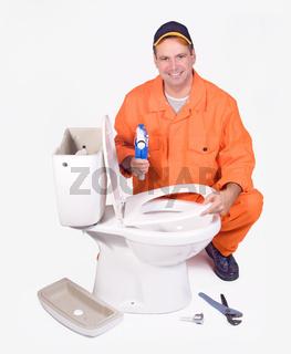 plumber mounted toilet bowl